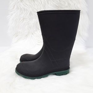 Black Rubber Rain Boots sz 5 made in USA